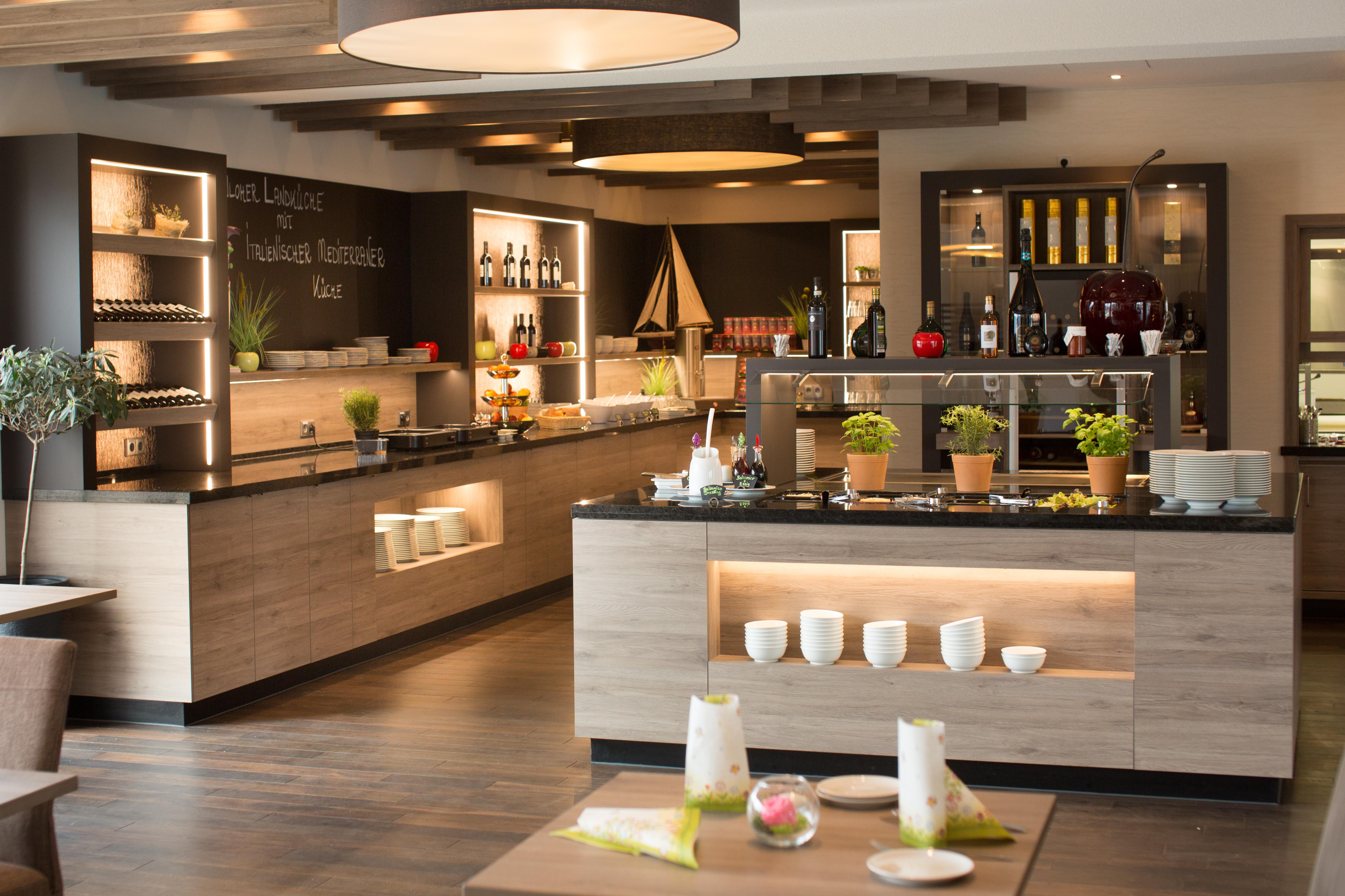 Restaurant-Einrichtung-Buffet