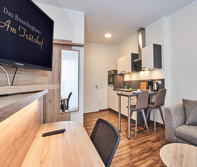 Hotelzimmer-Einrichtung-Küche